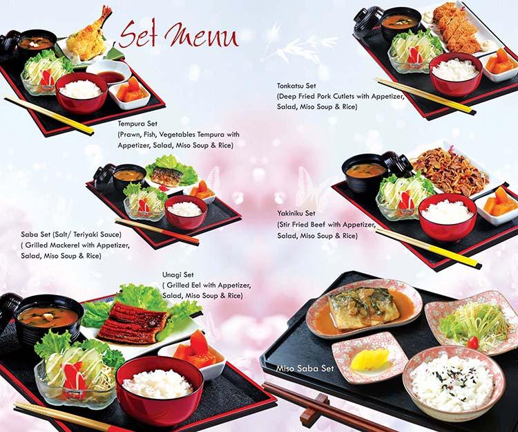 Japanese Garden Cafe Menu
